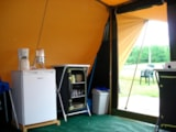 Rental - Fully equiped luxury tent 1-4 persons with possibility to put a little tent and 2 persons extra with supplement and extra living space in front - Camping La Croix Badeau