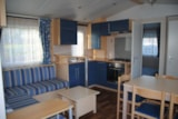 Rental - Mobilhome IRM 1-4 Persons (2 bedrooms)+ 2 Persons at additional cost convertible bed in living area - Camping La Croix Badeau