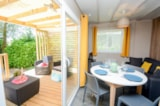 Rental - COSY 2    26.5 m² Air conditioning - Camping L'Oasis du Verdon