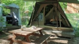 Rental - Tent Castor 17M² (Extra People In Small Extra Tent) - Camping La Châtaigneraie