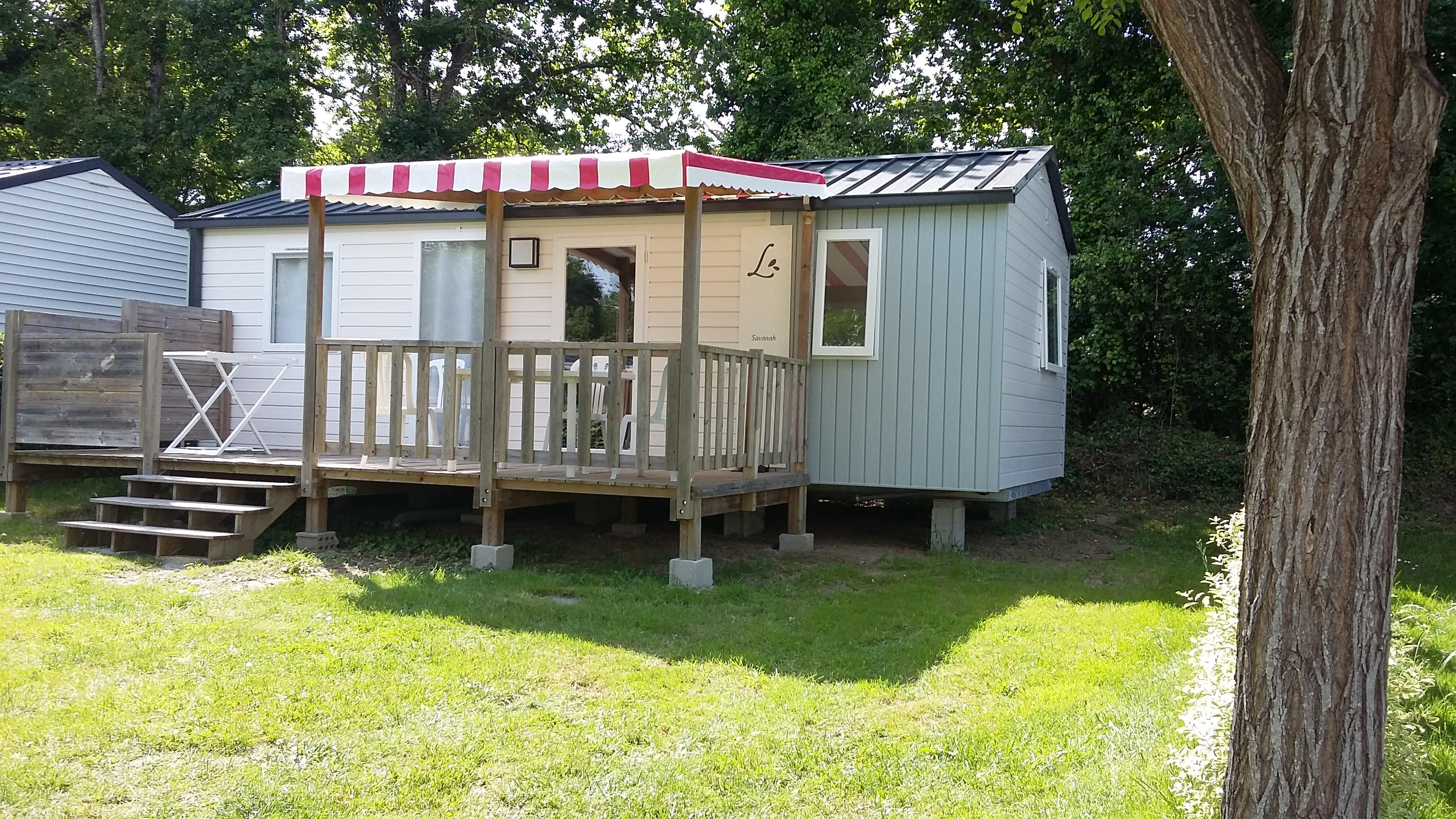 Locatifs - Cottage Savanah + terrasse semi-couverte - Camping Le Diben