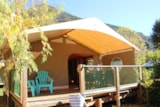 Rental - Furnished tent Lodge 20m² (2 bedrooms)** - YELLOH! VILLAGE - LE PRE LOMBARD