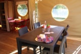 Rental - Furnished tent Canada 20m² with private facilities (2 bedrooms)** - YELLOH! VILLAGE - LE PRE LOMBARD