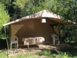 Rental - Canvas bungalow Canada | 2 bedrooms - Camping Les Chapelains