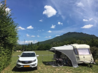 Package pitch - view on Cresta : 1 Car + 1 Tent or Caravan + electricity