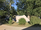 Pitch - Pitch : Car + Tent - Camping La Chesnays