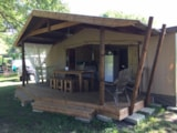 Rental - Lodge Premium Cotton - 3 Bedrooms - Bathroom / Wc - Covered Terrace - Camping La Chesnays