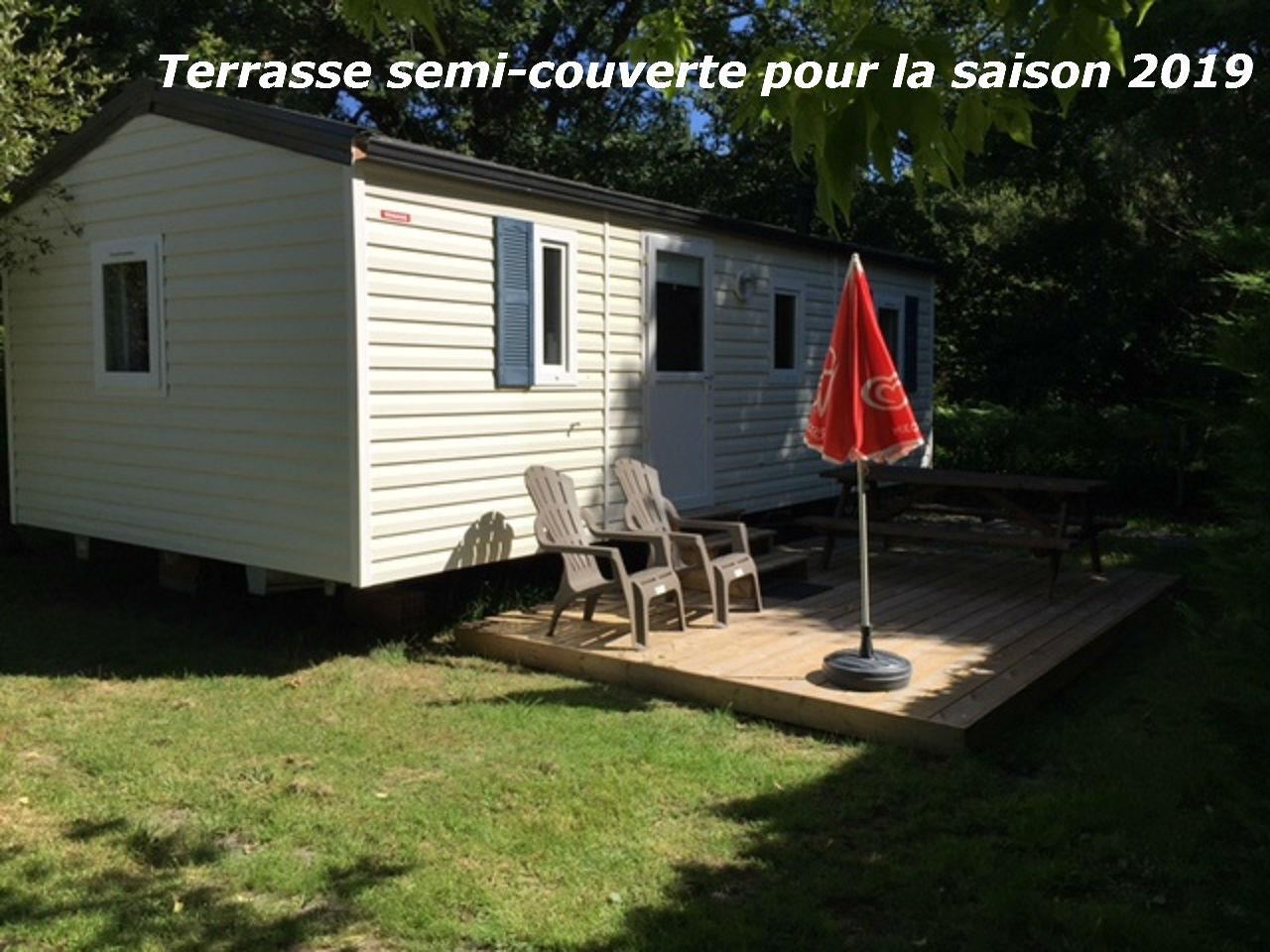 Location - Mobil-Home Sympa - 3 Chambres - Camping La Chesnays