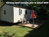 Rental - Mobile-Home Sympa - 3 Bedrooms - Camping La Chesnays