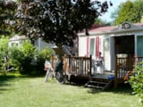 Rental - Cottage 2 Bedrooms Classic Tv - Airotel Camping La Roche Posay Vacances