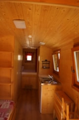 Rental - Trailer equipped with sanitary - Domaine du Trappeur