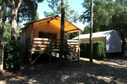 Canvas bungalow Cabane Lodge Confort + 20m² (2 bedrooms) + towels and sheets