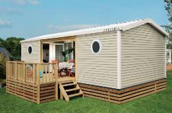 Huuraccommodaties - Cottage PATIO 2 Kamers - 2 Badkamers TV - Camping Pomport Beach