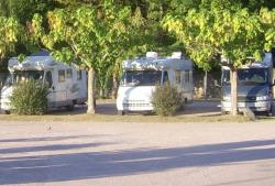 Pitch - Package * : camping-car parking on area at the entrance of the campsite + electricity - Camping Pomport Beach