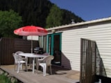 Rental - ECO Caravane 25m² (2 bedrooms) + terrace - without toilet blocks - 1999 - Flower Camping VERTE VALLEE