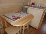 Rental - ECO Wooden hut ECO-POD FAMILY  13 m²  + terrace - without private facilities - 2015 - Flower Camping VERTE VALLEE