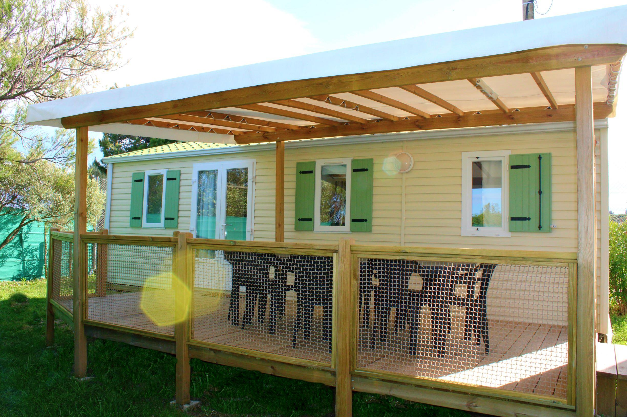 Mobil-home 32m² (3 chambres) - Climatisation+tv