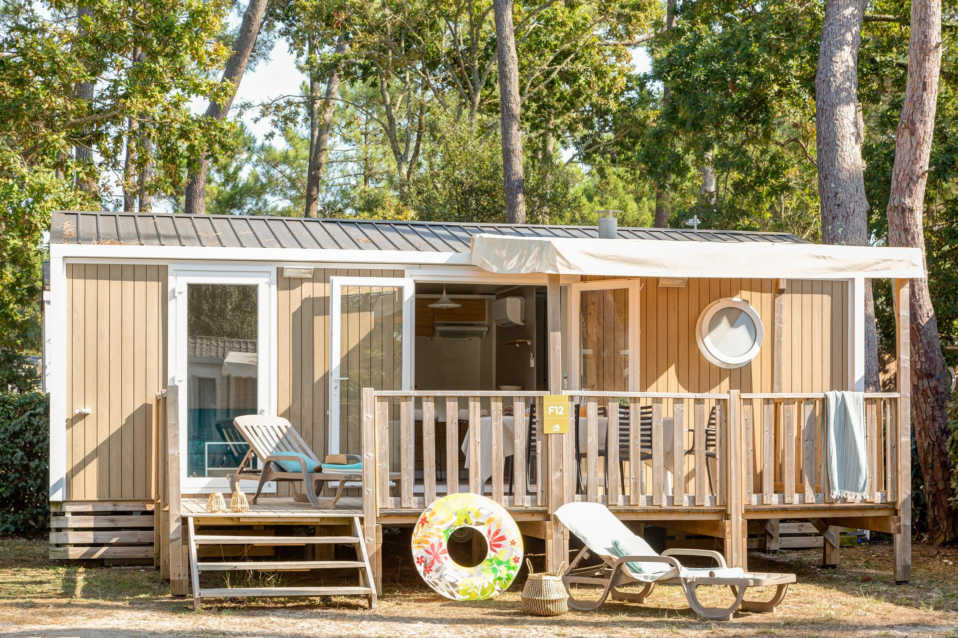 Location - Cottage 2 Chambres Climatisé**** - Camping Sandaya Soulac Plage