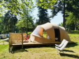 Rental - Tent ECOCHIQUE 24m² - 2 bedrooms - without toilet blocks - Flower Camping Les Murmures du Lignon