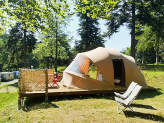 Tent ECOCHIQUE 24m² - 2 bedrooms - without toilet blocks