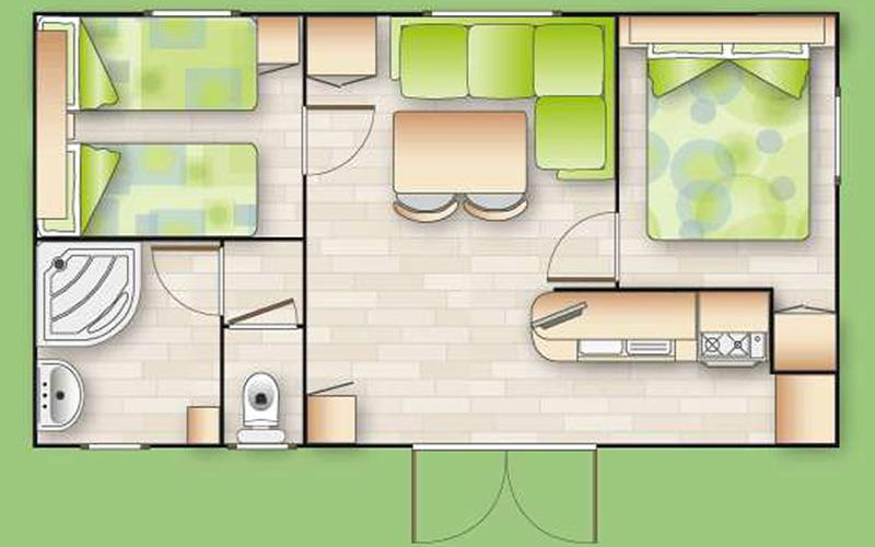 Mobile-Home Espace - Mv3 - 2 Bedrooms
