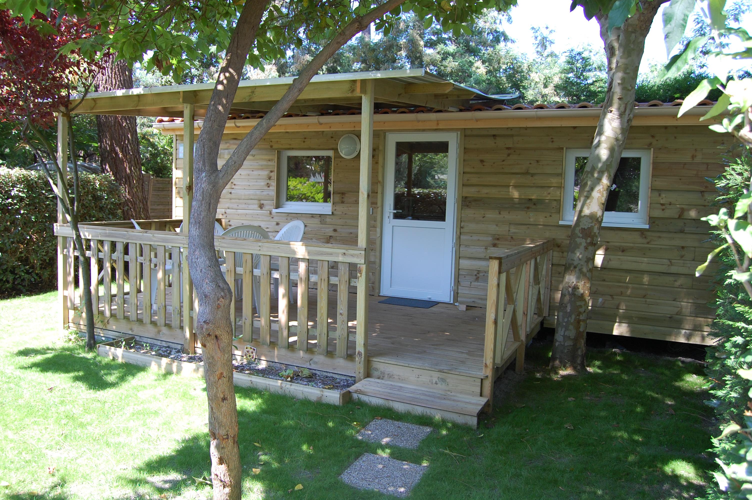 Mobil-home Confort 20m² Pinasse - Terrasse couverte