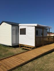 Mobile-home 2 bedrooms, Half-covered terrace