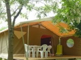 Rental - Canada tents 5 pax. - 2 rooms - no sanitary - Camping La Turelure