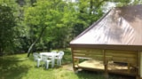 Rental - Ecolodge tent 4 pax. - 2 rooms, no sanitary - Camping La Turelure