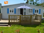 Rental - Mobilhome BORA 30m²  2 chambres 4 pers. TELEVISION - Camping Les Logeries
