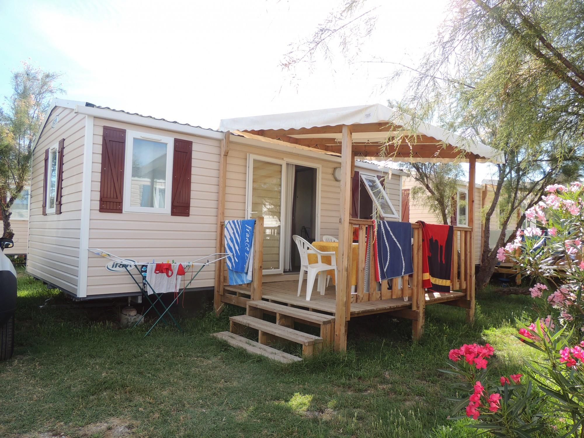 Mobile Home FAMILY 2 bedrooms 25.2m² + air-conditioning + TV + WIFI + Safe