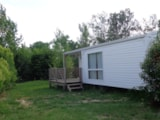 Rental - Mobile Home LOGGIA / 2 bedrooms - Half-covered terrace - Camping Village Grand Sud