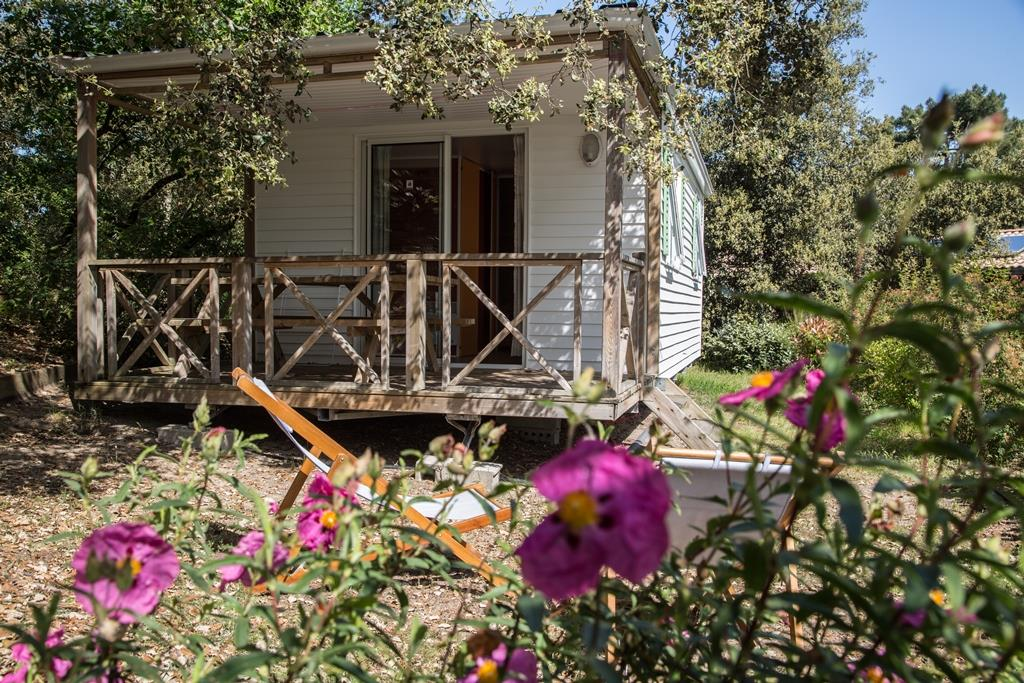 Location - Mobil-Home Confort+ 2 Chambres & Terrasse Couverte - 28 M² - Flower Camping Des Pins