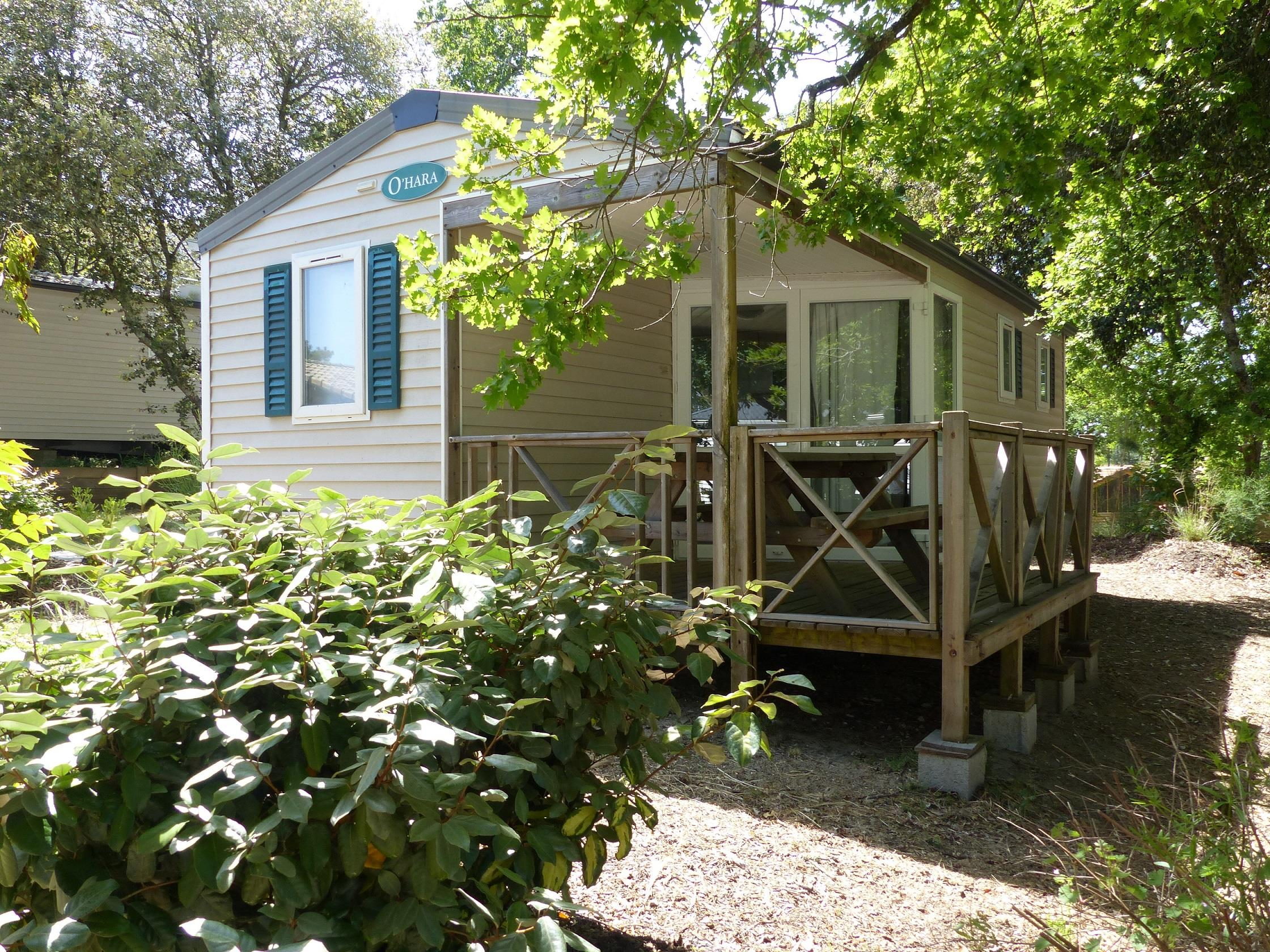 Location - Mobil-Home Confort+ 2 Chambres & Terrasse Couverte - 32 M² - Flower Camping Des Pins