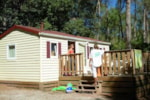 Rental - Cottage Watipi 28 m² -2 bedrooms - wooden terrace - Camping Holiday Green