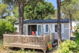 Huuraccommodaties - Family Cottage 35 m² - 3 (slaap)kamers - airconditioning, houten terras - Camping Holiday Green