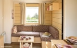 Huuraccommodaties - Cottage Riviera Club 38 m² - 3 (slaap)kamers - overdekt terras, airconditioning, tv - Camping Holiday Green