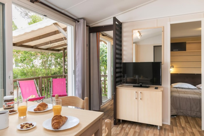 Cottage Riviera Club 38 M² - 3 Chambres - Terrasse Couverte, Climatisation, Tv
