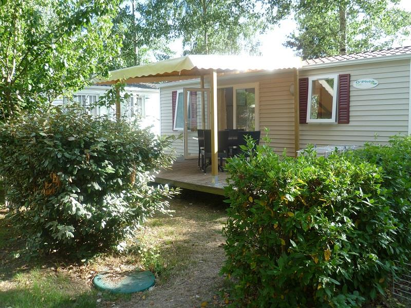 Location - Mobil-Home 2 Chambres - Camping Le Chêne du Lac