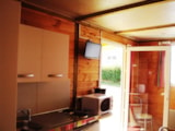Rental - Wooden chalet with terrace - Camping de l'Orival