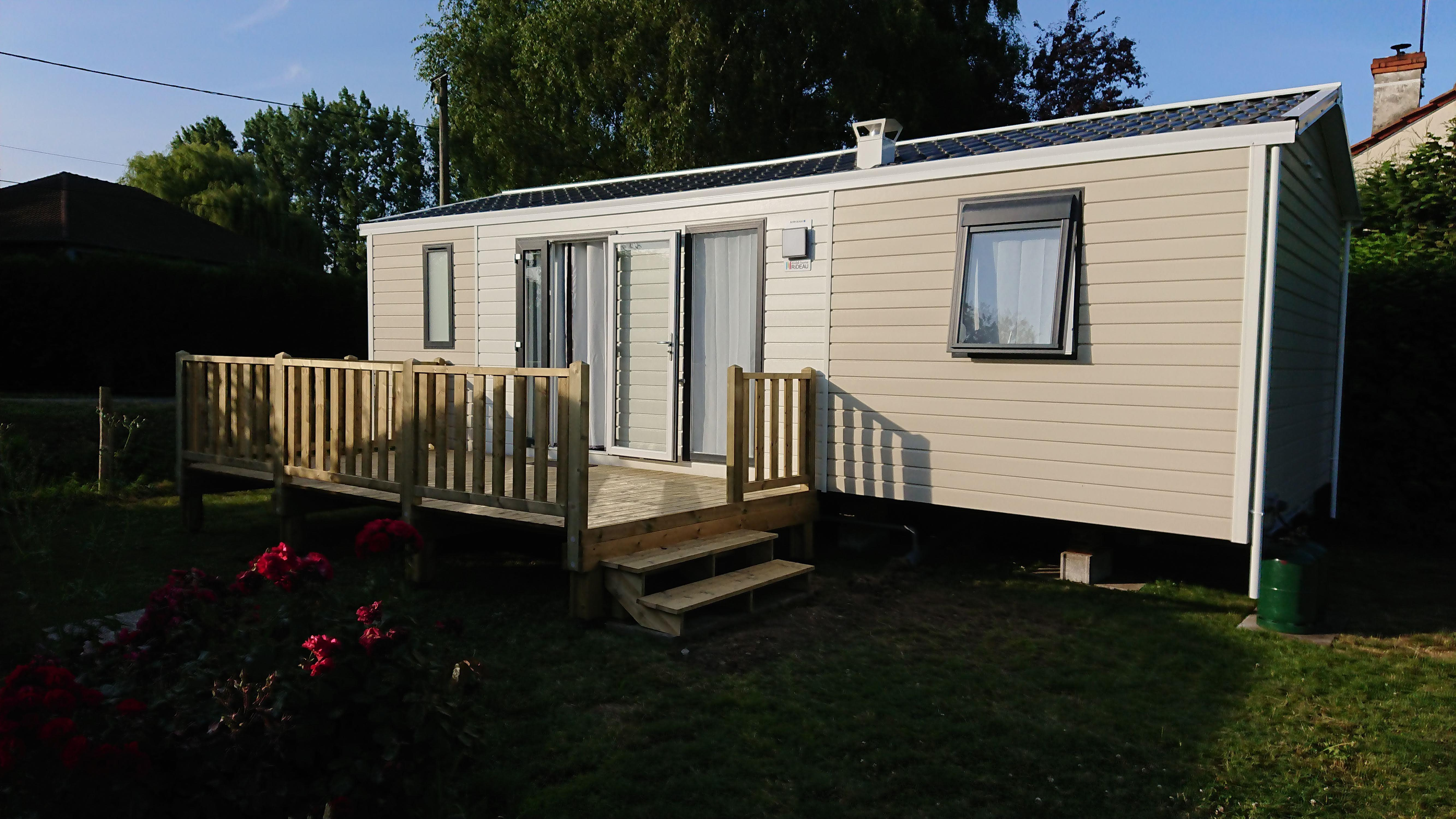 Accommodation - Mobil Home Rideau Nirvana Trio 2019 - Camping LA PETITE FORET