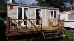 Location - Mobil-Home 2 Chambres + Climatisation - Camping Le Moulin Brûlé