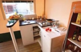 Rental - Cyrus Privilège 20 m² 2 bedrooms with private facilities - Camping Les Cadenières