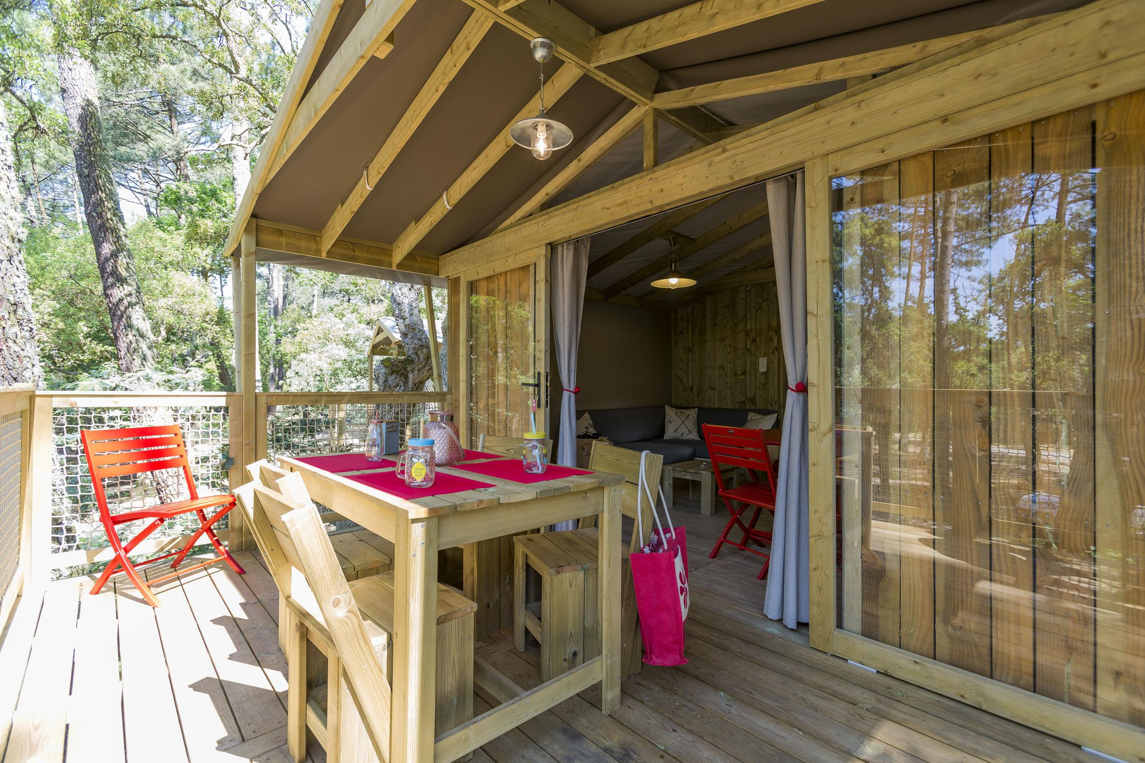 Rental - Eco-Lodge: 32M², 2 Bring To Room Temperature Terrace - Camping Les Restanques