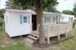 Rental - Mobile Home Economique (2 bedrooms) 20-22m² + wooden terrace (- 10 years) - Camping les Alouettes