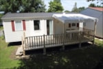 Rental - Mobile Home Economique (3 bedrooms) 32-35m² + wooden terrace (new 2016 - 10 years) - Camping les Alouettes