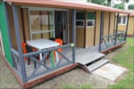 Rental - Chalet Economique (3 bedrooms) 30-32m² + wooden terrace (- 10 years) - Camping les Alouettes