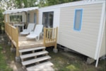 Rental - Cottage Excellence+ (3 bedrooms / 2 bathrooms) 40m² + wooden terrace (- 4 years) - Camping les Alouettes