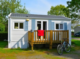 Mobile home 25m² - 2 bedrooms (without toilet blocks) included access to the inside swimming pool