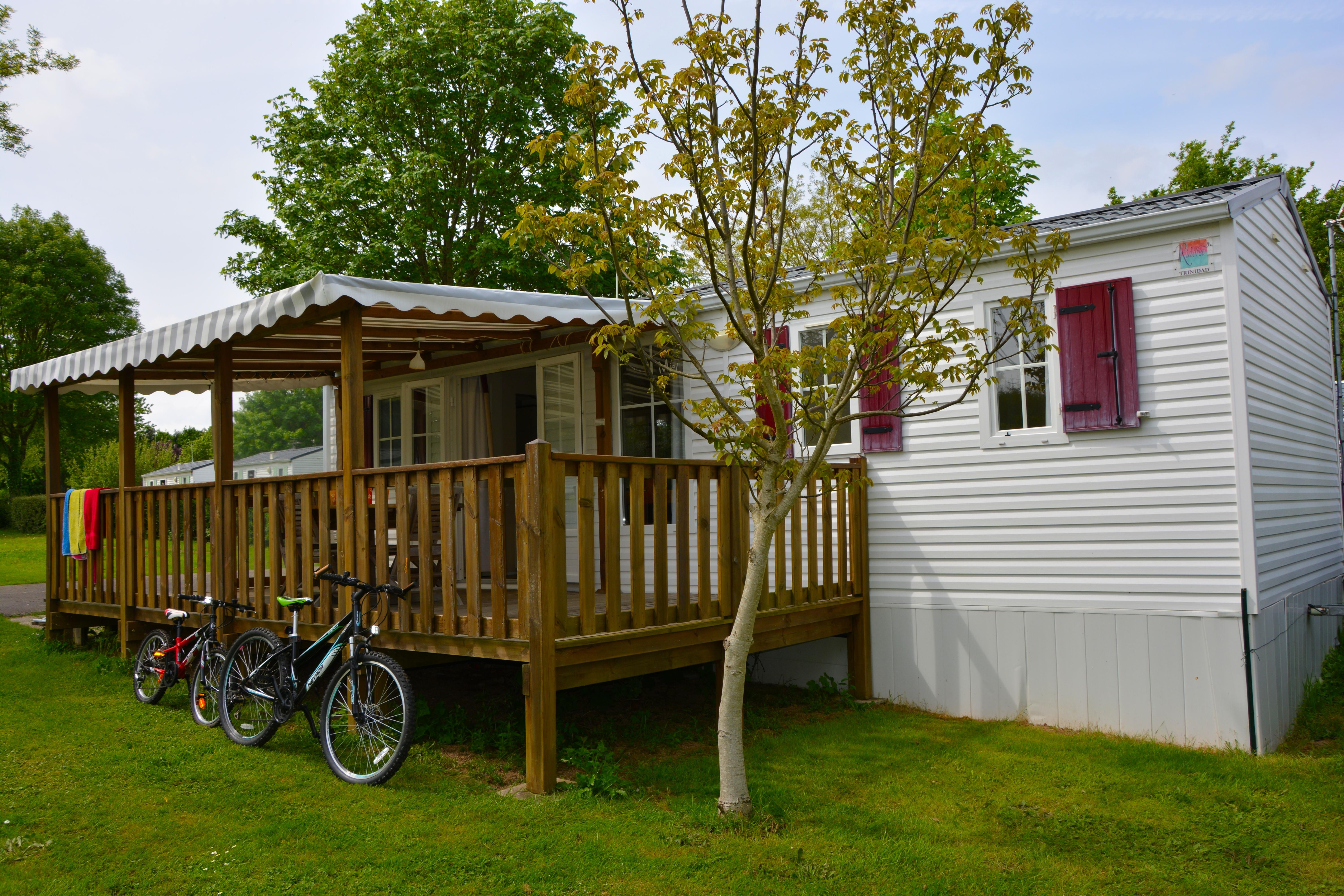 Location - Mobil-Home Confort  - 3 Chambres- Terrasse Couverte - Camping Ty Nénez